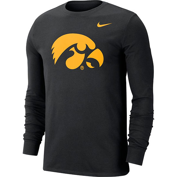 Iowa Hawkeyes Dri-Fit Logo Long Sleeve Tee