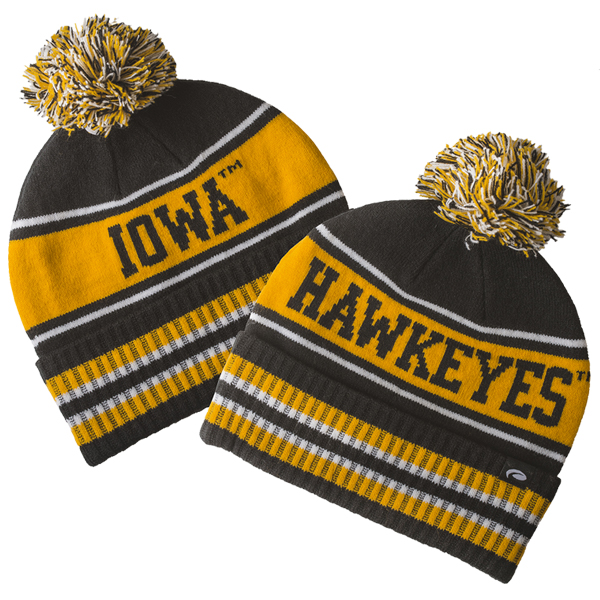 Iowa Hawkeyes Pom Stocking Cap