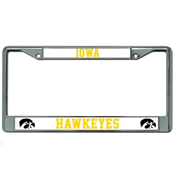 Iowa Hawkeyes White Auto Frame