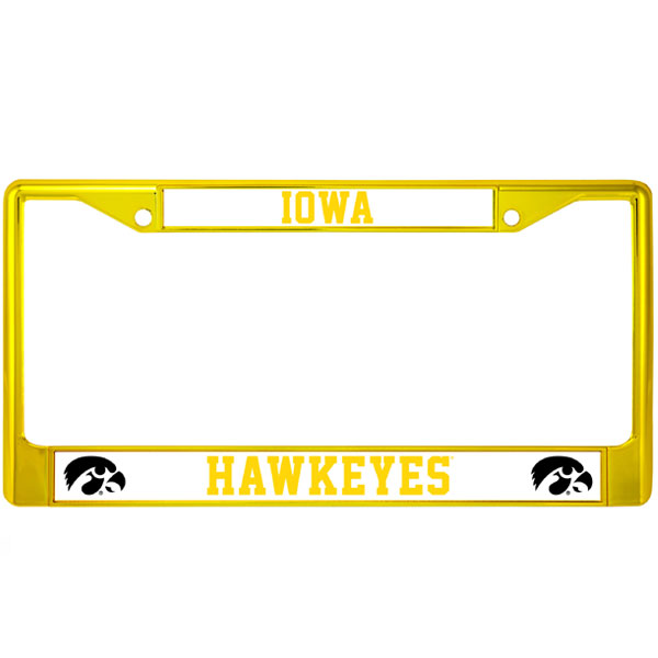 Iowa Hawkeyes Gold Auto Frame