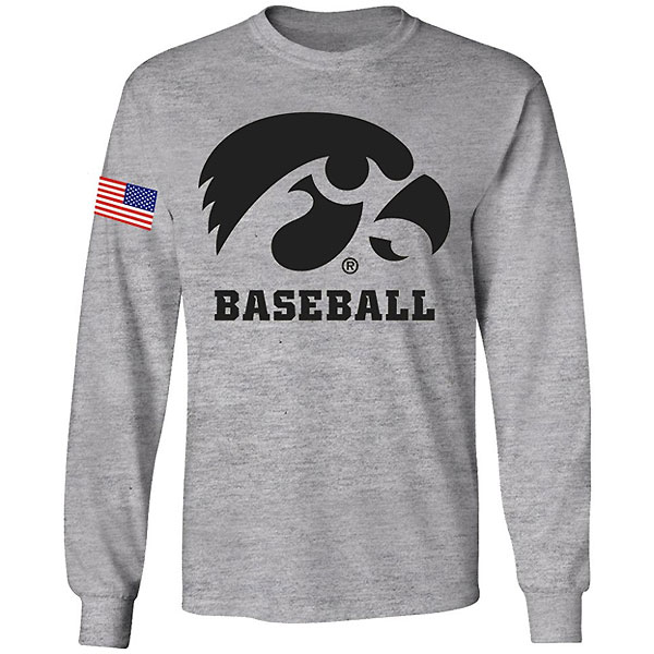 Iowa Hawkeyes Youth Baseball Long Sleeve Tee