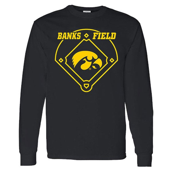 Iowa Hawkeyes Banks Field Baseball Long Sleeve Tee