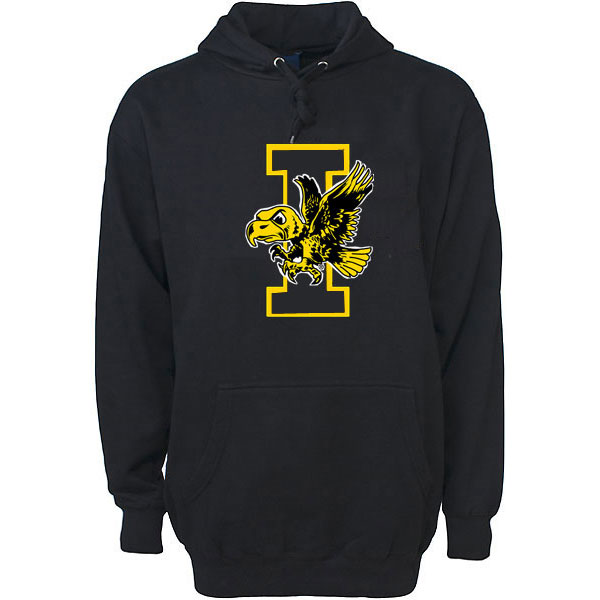Iowa Hawkeyes Basketball Flying Herky Hoodie
