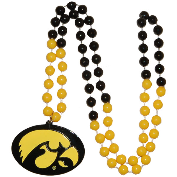 Iowa Hawkeyes Medallion Beads