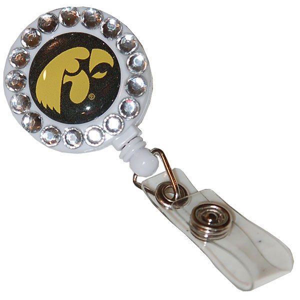 Iowa Hawkeyes Gem Badge Reel Holder