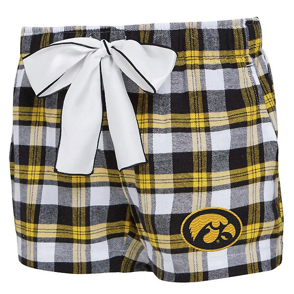 Iowa Hawkeyes Women's Flannel Shorts