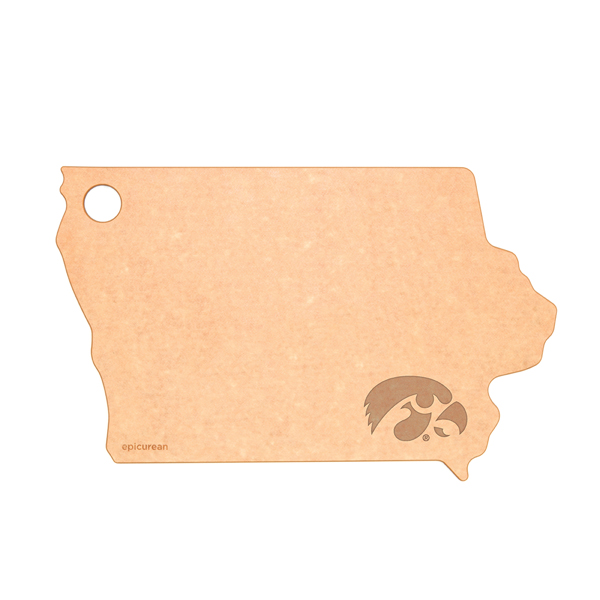 Iowa Hawkeyes Wood Fiber State Cutting Board