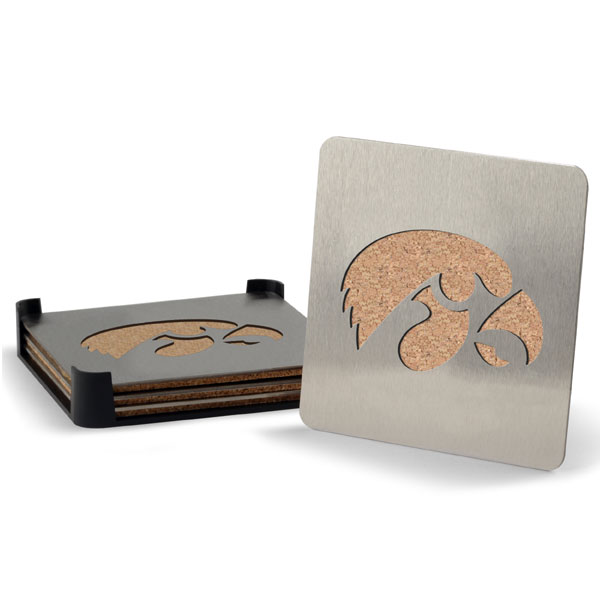 Iowa Hawkeyes Coaster Set
