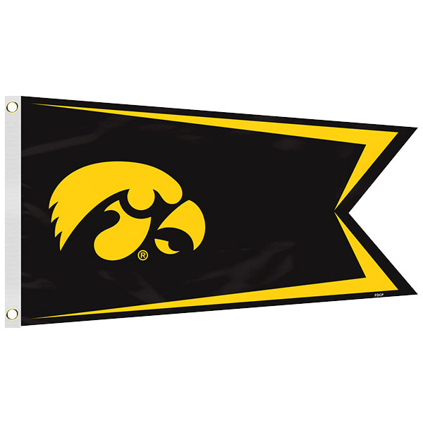 Iowa Hawkeyes Boat Flag