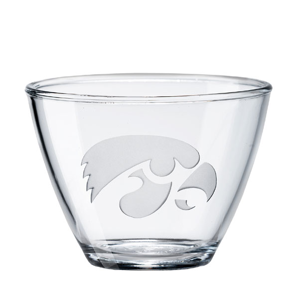 Iowa Hawkeyes Clear Small Bowl