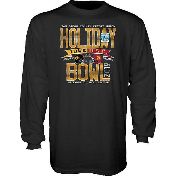 Iowa Hawkeyes Holiday Bowl Olive Branch Tee - Long Sleeve