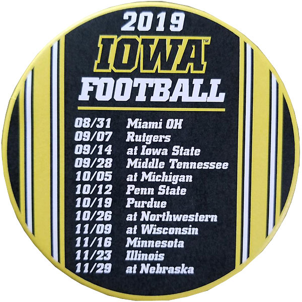 Iowa Hawkeyes 2019 Schedule Button