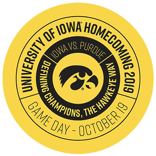 Iowa Hawkeyes 2019 Homecoming Button