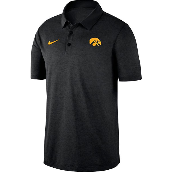 Iowa Hawkeyes Dry Black Polo