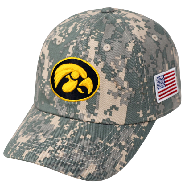 Iowa Hawkeyes Camo Adjustable Hat