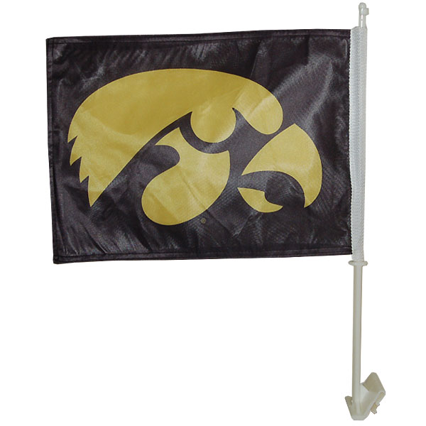 Iowa Hawkeyes ANF Car Flag