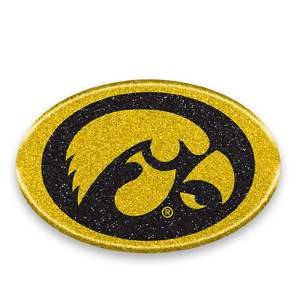 Iowa Hawkeyes Color Bling Auto Emblem