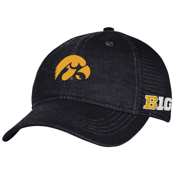 Iowa Hawkeyes Logo BIG Trucker Meshback