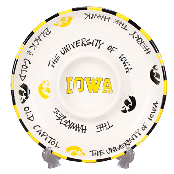 Iowa Hawkeyes Circle Chip & Dip