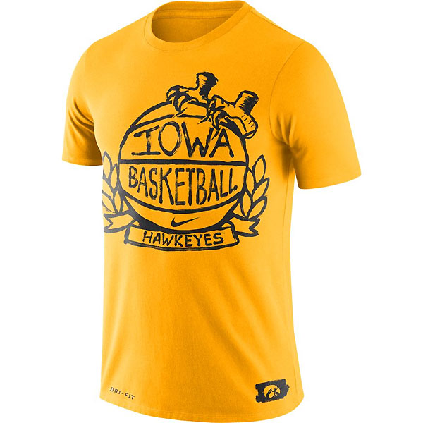 Iowa Hawkeyes Basketball Crest Tee