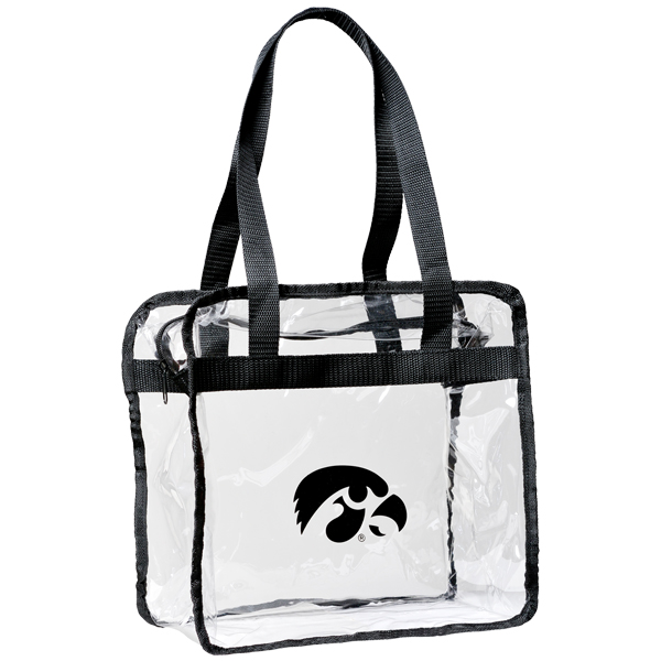 Iowa Hawkeyes Clear Game Tote Bag