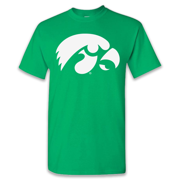 Iowa Hawkeyes Irish Green Tee