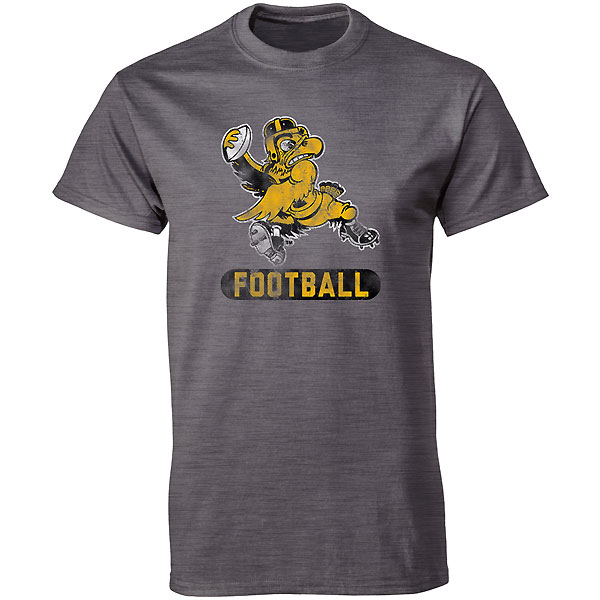 Iowa hawkeyes franchise football herky tee for T shirt printing franchise