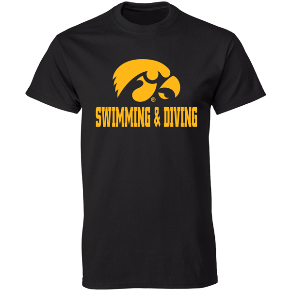 Iowa Hawkeyes Swimming and Diving Tee