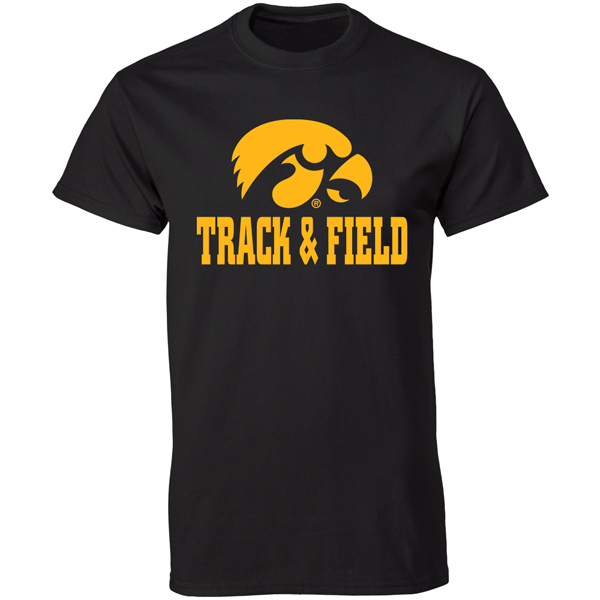 Iowa Hawkeyes Track and Field Tee