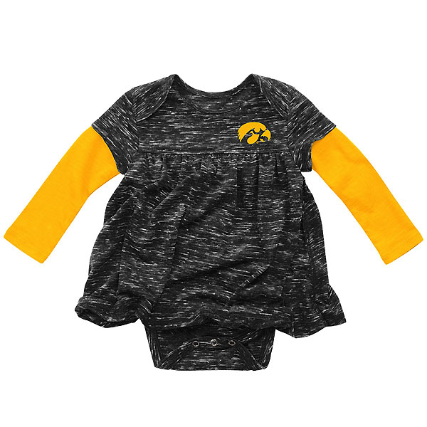 Iowa Hawkeyes Infant Berverly Hill Dress Onesie