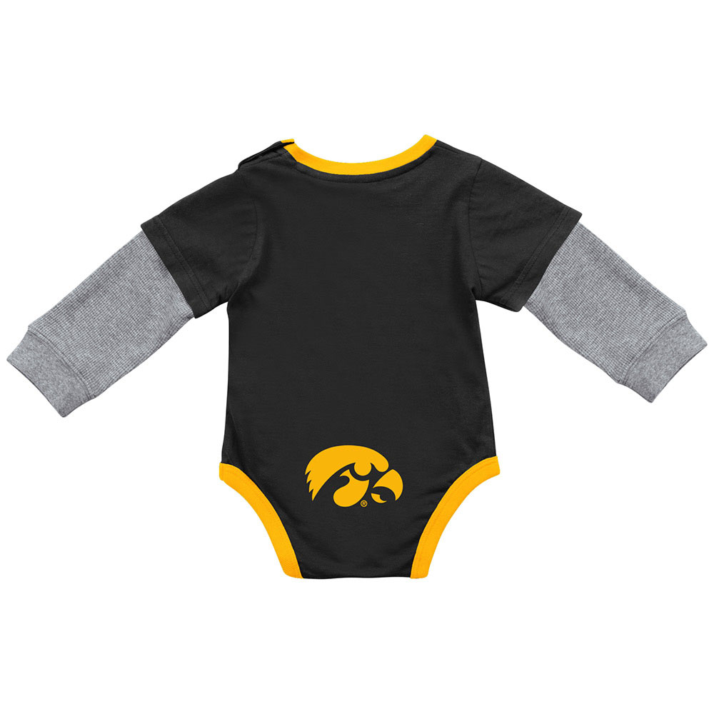 Iowa Hawkeyes Infant Fly By 2-Fer Onesie