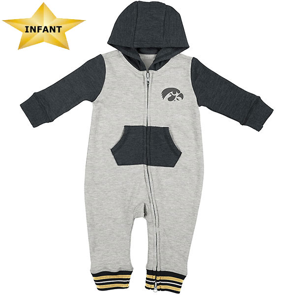 Iowa Hawkeyes Infant Axel Hooded Romper