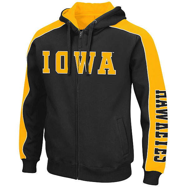 Iowa Hawkeyes Thriller II Full-Zip Hoodie (Big-Tall)