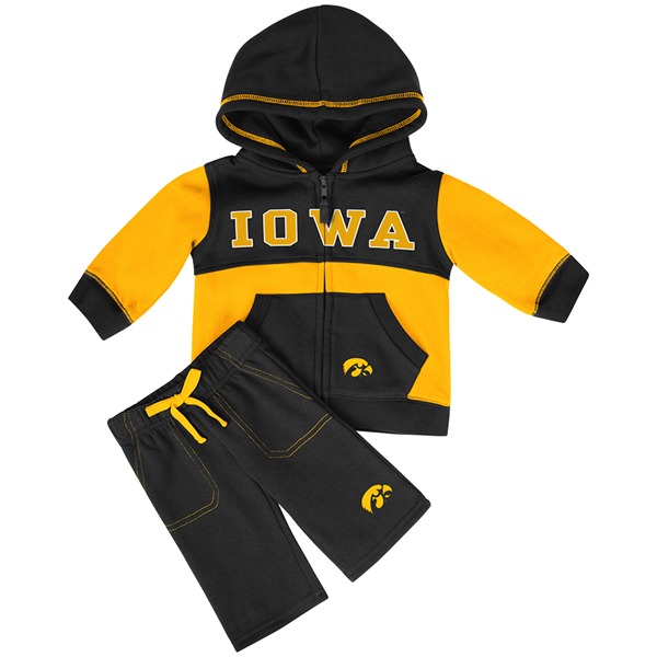 Iowa Hawkeyes Infant Fleece Set
