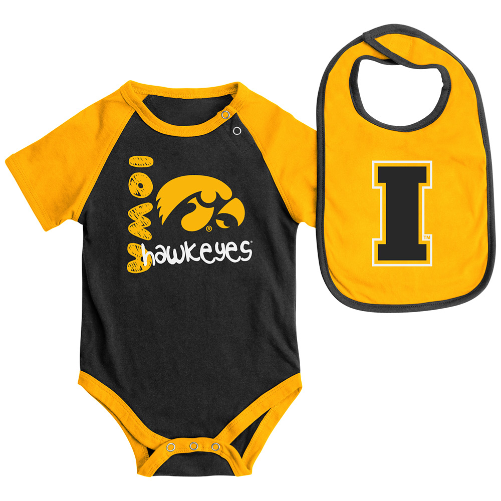 Iowa Hawkeyes Infant Rookie Onesie & Bib Set
