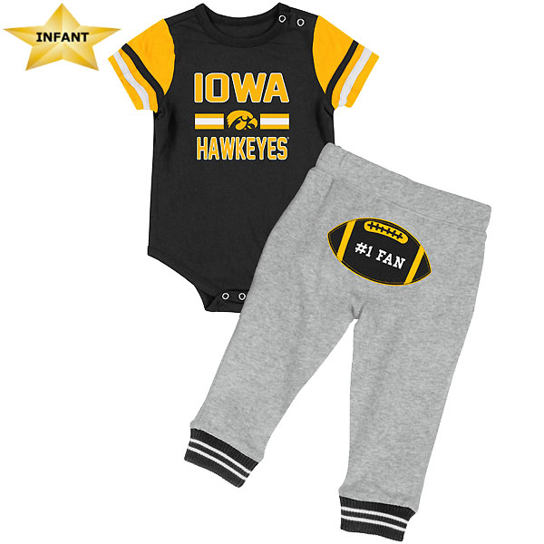 Iowa Hawkeyes Infant Long Run Onesie