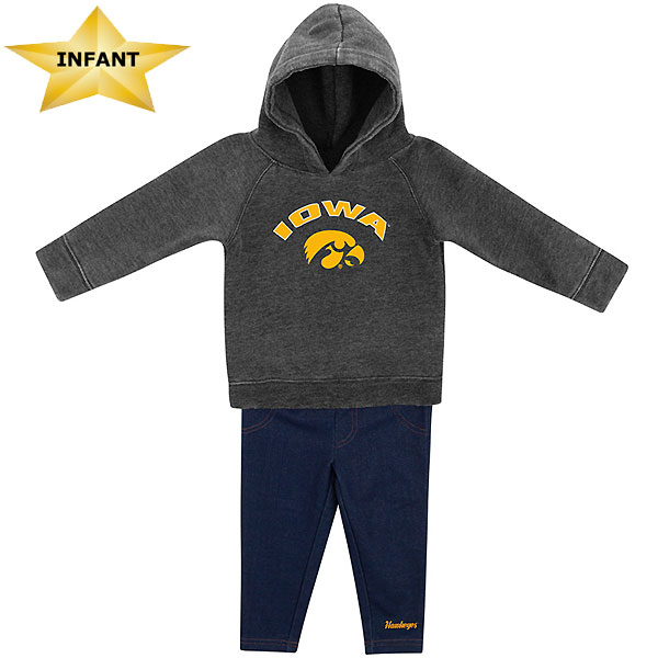 Iowa Hawkeyes Infant Shot at the Pros Hoodie Set