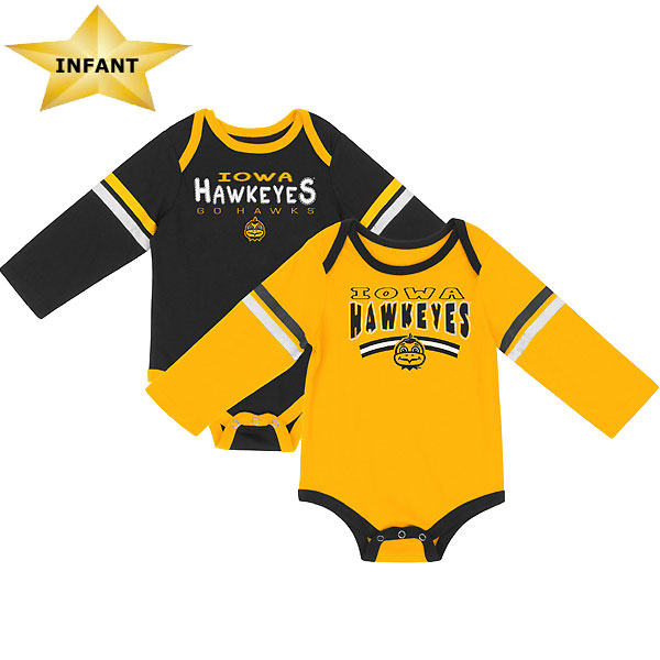 Iowa Hawkeyes Infant Super Combined 2-pack Onesie