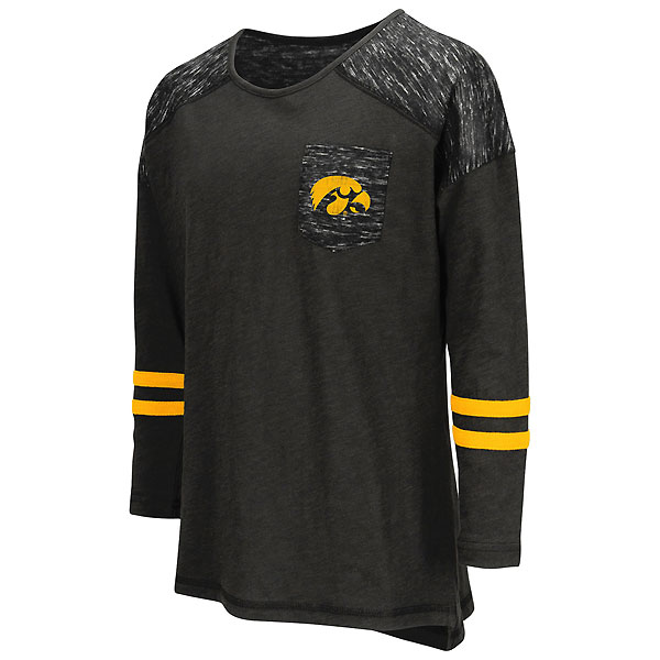 Iowa Hawkeyes Girls Phat Pocket Tee