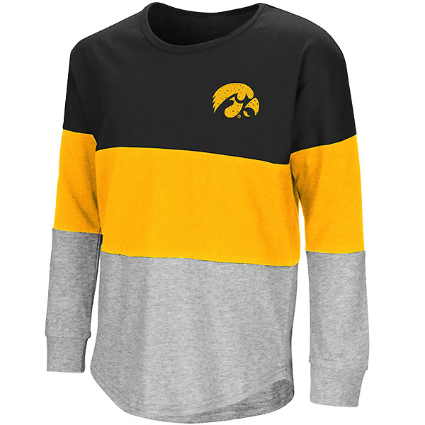 Iowa Hawkeyes Girls Treasure Colorblocked Tee