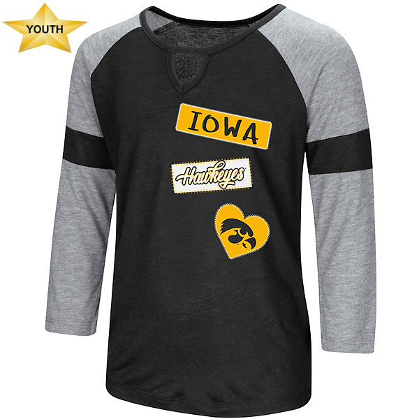 Iowa Hawkeyes Youth Girls All You Need Tee