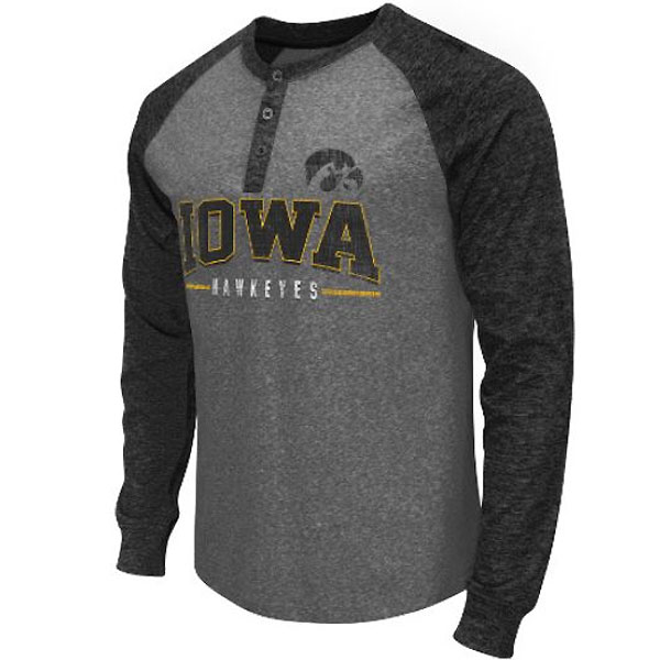 Iowa Hawkeyes Jester Two-Tone Henley Tee