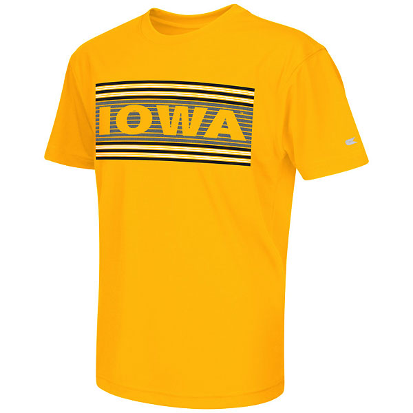 Iowa Hawkeyes Youth Silver Bar Tee