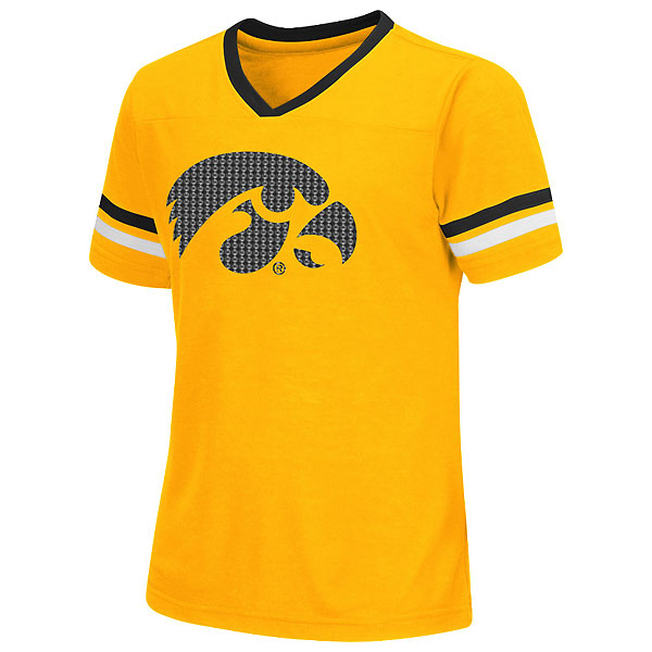 Iowa hawkeyes girls titanium tee for Iowa hawkeye t shirt