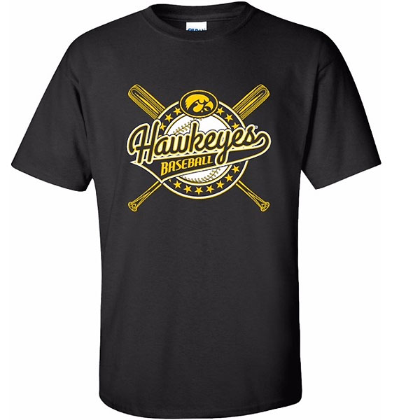 Iowa Hawkeyes Youth Crossbats Stars Tee