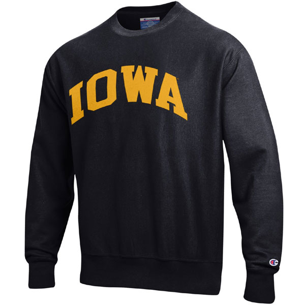 Iowa Hawkeyes Weave Crew Black Sweat