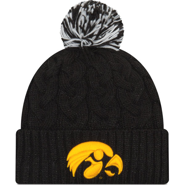Iowa Hawkeyes Women's Cozy Cable Knit Hat