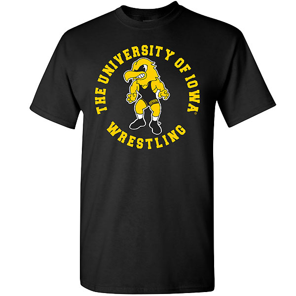 Iowa Hawkeyes Wrestling Circle Tee