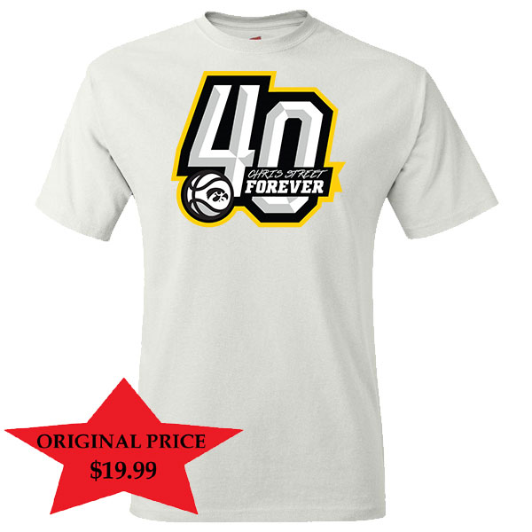 Iowa Hawkeyes Chris Street White Out Shirt