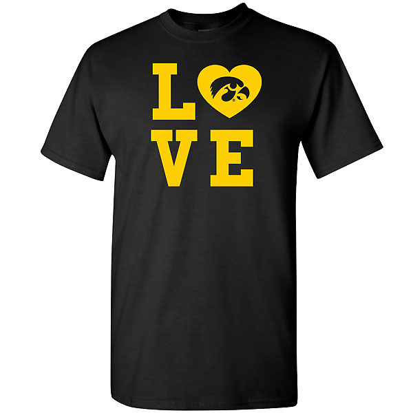 Iowa Hawkeyes Love in Square Tee